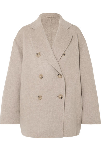 Acne Studios | Acne Studios - Odine Double-breasted Wool And Cashmere-blend Coat - Beige | Clouty