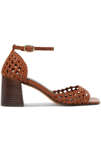 Souliers Martinez | Souliers Martinez - Procida Woven Leather Sandals - Tan | Clouty