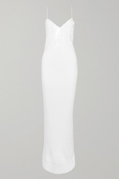 Stella McCartney   Stella McCartney - Sequined Silk-chiffon Gown - White   Clouty