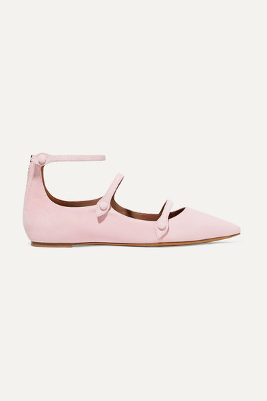Tabitha Simmons | Tabitha Simmons - + Equipment Lynette Suede Point-toe Flats - Baby pink | Clouty