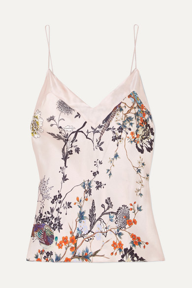 MENG | MENG - Printed Silk-satin Camisole - Pastel pink | Clouty