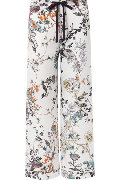 MENG | MENG - Printed Silk-satin Pajama Pants - White | Clouty