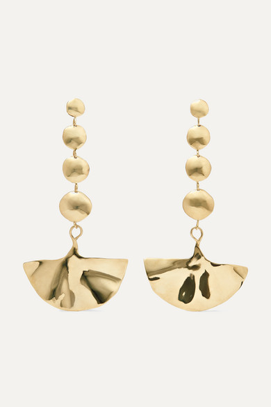Ariana Boussard-Reifel | Ariana Boussard-Reifel - Kabuki Gold-tone Earrings - one size | Clouty