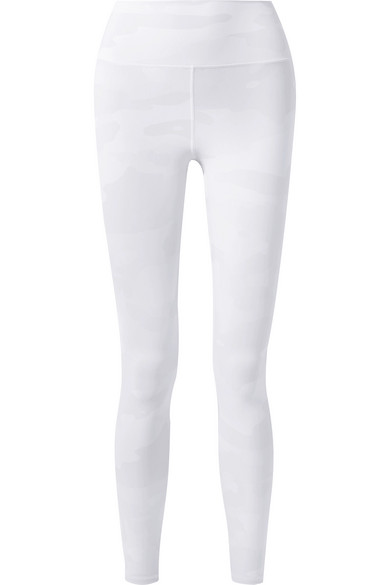 Alo Yoga | Alo Yoga - Vapor Camouflage-print Stretch Leggings - Off-white | Clouty