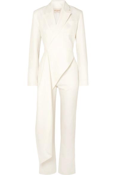 MATERIEL   MATERIEL - Draped Linen And Cotton-blend Jumpsuit - White   Clouty