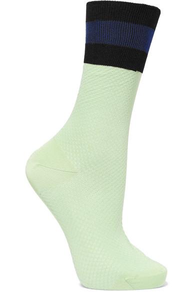 Maria La Rosa | Maria La Rosa - Cotton-blend Socks - Mint | Clouty