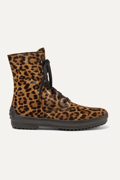 Tod's | Tod's - Leopard-print Calf Hair Ankle Boots - Leopard | Clouty
