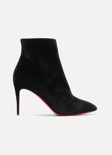 Christian Louboutin | Christian Louboutin - Eloise 85 Suede Ankle Boots - Black | Clouty