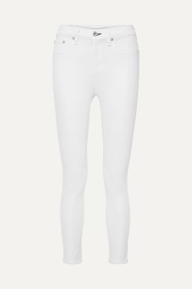 RAG & BONE | rag & bone - Cropped High-rise Skinny Jeans - White | Clouty
