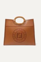 Фото Fendi - Runaway Medium Perforated Leather Tote - Brown