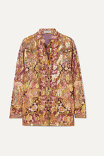 ad9076b736c9be9 Etro | Etro - Printed Fil Coupe Silk-blend Georgette Shirt - Plum | Clouty