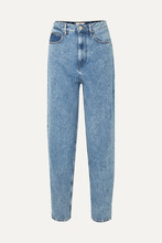 Isabel Marant Etoile - Corsyj High-rise Tapered Jeans - Light blue
