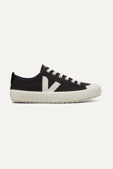 Veja   Veja - + Net Sustain Nova Organic Cotton-canvas Sneakers - Black   Clouty