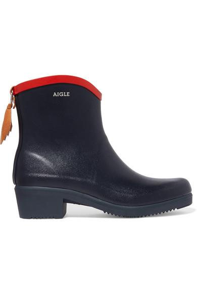 Aigle | Aigle - Miss Juliette Rubber Rain Boots - Navy | Clouty
