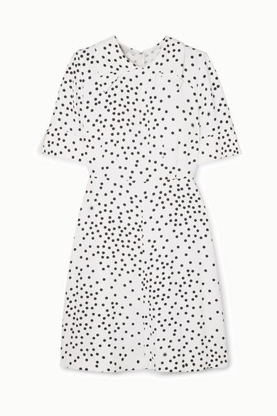 Stella McCartney | Stella McCartney - + Net Sustain Laurieton Polka-dot Stretch-cady Mini Dress - Ivory | Clouty