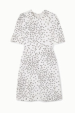 Stella McCartney - + Net Sustain Laurieton Polka-dot Stretch-cady Mini Dress - Ivory