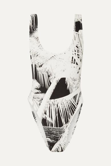 Norma Kamali | Norma Kamali - Marissa Printed Swimsuit - Black | Clouty