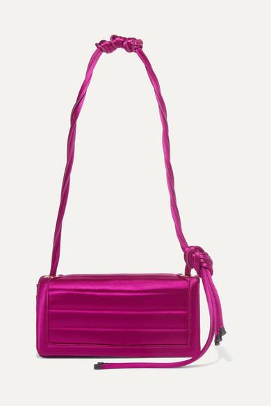 Dries Van Noten | Dries Van Noten - Quilted Satin Shoulder Bag - Pink | Clouty