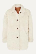 Isabel Marant - Sarvey Oversized Shearling Coat - Ecru