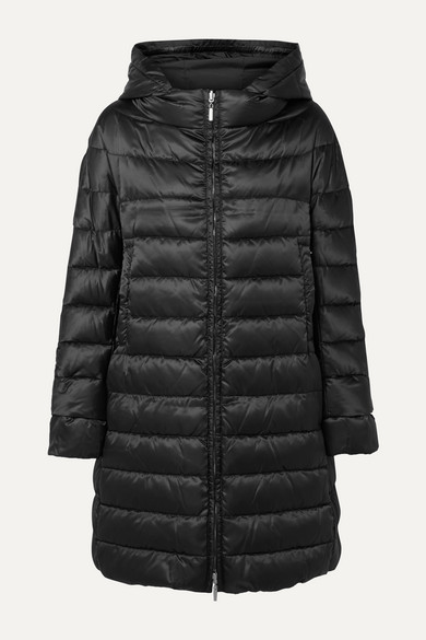 MAX MARA | Max Mara - The Cube Reversible Hooded Quilted Shell Down Coat - Black | Clouty