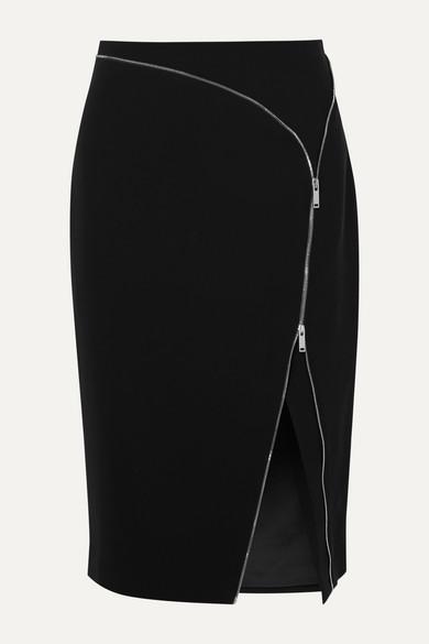 Altuzarra | Altuzarra - Peck Zip-embellished Cady Midi Skirt - Black | Clouty