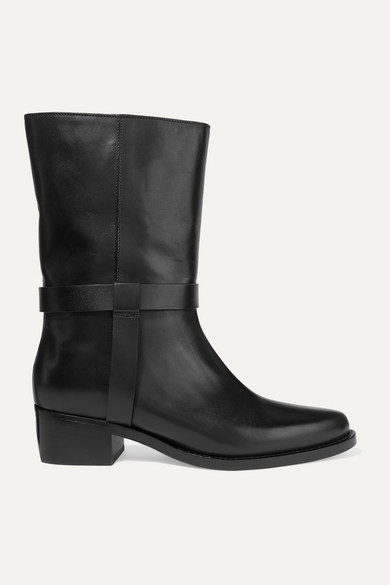 LEGRES | LEGRES - 05 Leather Ankle Boots - Black | Clouty