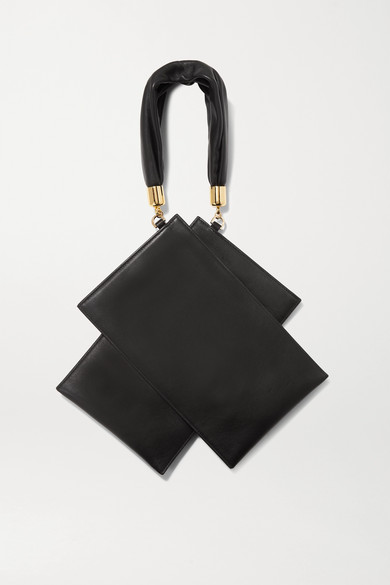 The Sant | The Sant - Shiromuku Mini Leather Tote - Black | Clouty