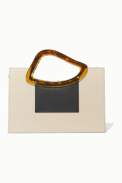 Naturae Sacra | Naturae Sacra - Arp Sailent Leather And Resin Tote - Off-white | Clouty
