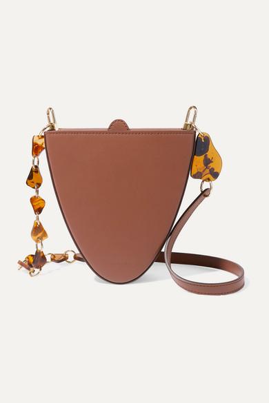 Naturae Sacra | Naturae Sacra - Cyssus Leather And Resin Shoulder Bag - Tan | Clouty