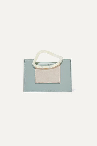Naturae Sacra   Naturae Sacra - Arp Mini Suede-trimmed Leather And Resin Tote - Mint   Clouty