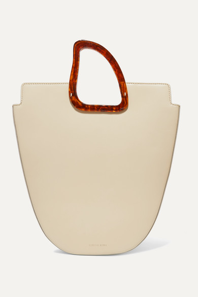 Naturae Sacra | Naturae Sacra - Ourea Large Leather And Resin Tote - Off-white | Clouty