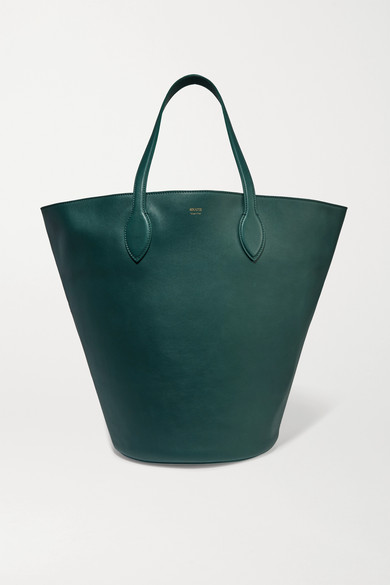 Khaite | Khaite - Circle Medium Leather Tote - Green | Clouty
