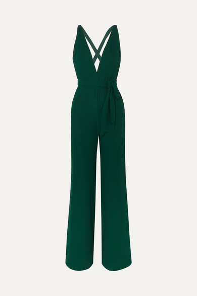 Reformation | Reformation - Sofi Georgette Jumpsuit - Green | Clouty