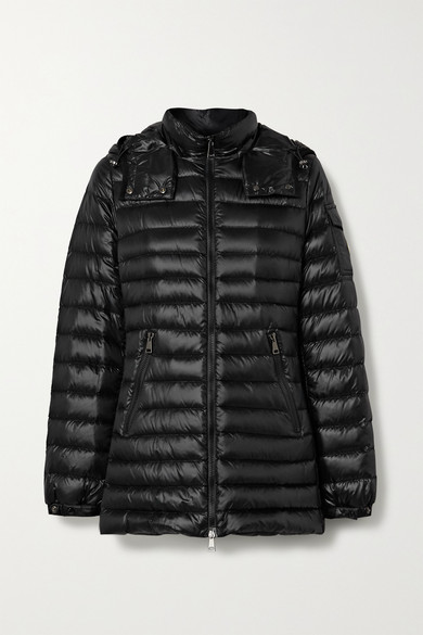 MONCLER | Moncler - Menthe Hooded Quilted Shell Down Jacket - Black | Clouty