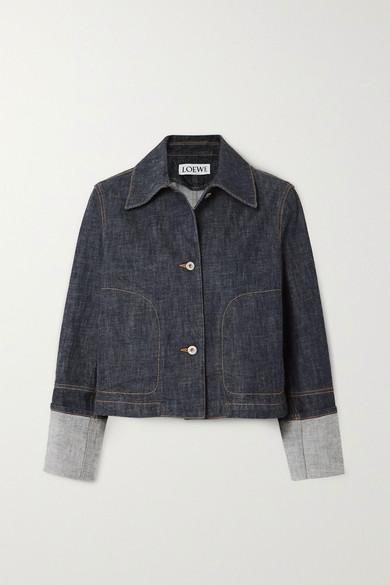 Loewe | Loewe - Cropped Denim Jacket - Blue | Clouty
