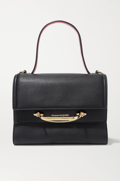 Alexander McQueen | Alexander McQueen - The Story Small Two-tone Leather Tote - Black | Clouty