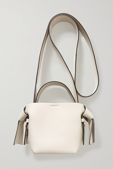 Acne Studios | Acne Studios - Musubi Micro Knotted Leather Shoulder Bag - Ecru | Clouty