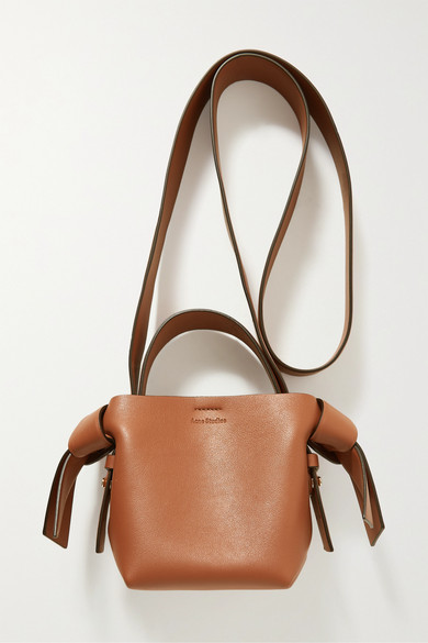 Acne Studios | Acne Studios - Musubi Micro Knotted Leather Shoulder Bag - Camel | Clouty