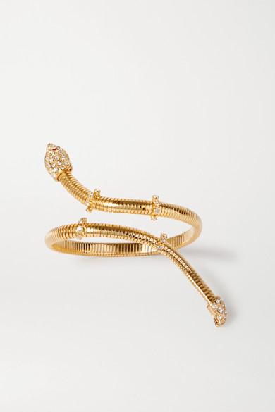 Rosantica | Rosantica - Giza Gold-tone Crystal Bracelet - one size | Clouty