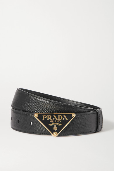 PRADA | Prada - Textured-leather Belt - Black | Clouty