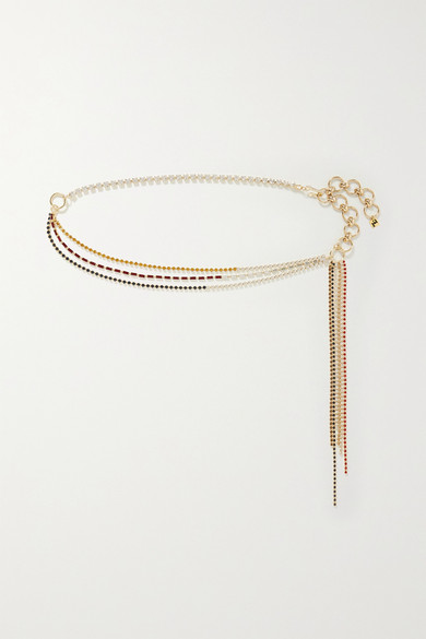 Rosantica | Rosantica - Iside Crystal-embellished Gold-tone Belt - one size | Clouty