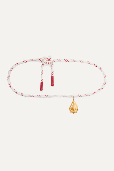 Alighieri | Alighieri - Castaway Gold-plated And Rope Belt - one size | Clouty