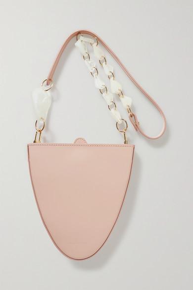 Naturae Sacra | Naturae Sacra - Cyssus Leather And Resin Shoulder Bag - Blush | Clouty