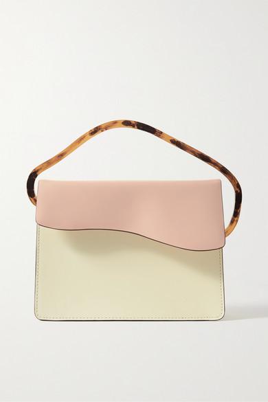 Naturae Sacra   Naturae Sacra - Aiges Two-tone Leather And Resin Tote - Cream   Clouty