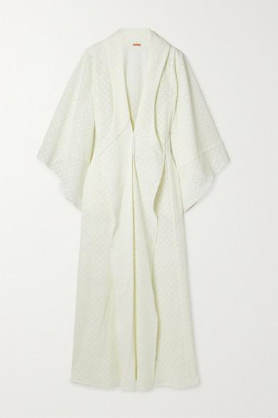 Johanna Ortiz | Johanna Ortiz - Sea Gull Crocheted Cotton Kimono - Ecru | Clouty