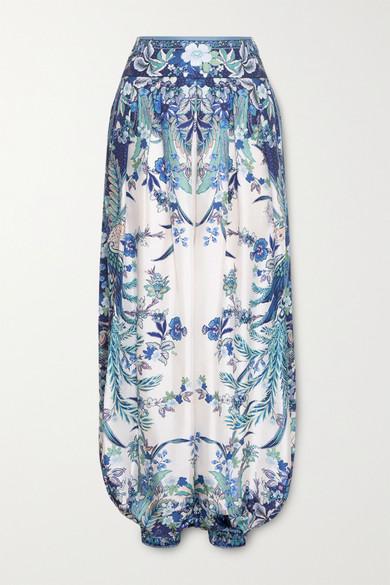 Zimmermann | Zimmermann - Glassy Printed Silk Pants - Cobalt blue | Clouty