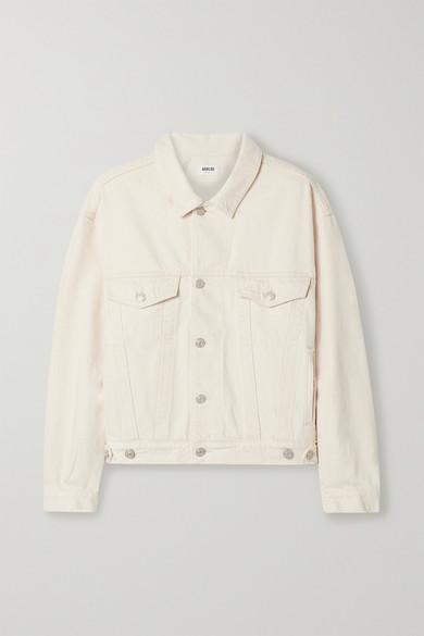 Agolde   AGOLDE - Charli Oversized Denim Jacket - Neutral   Clouty