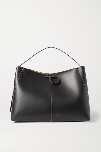 Wandler | Wandler - Ava Large Leather Tote - Black | Clouty