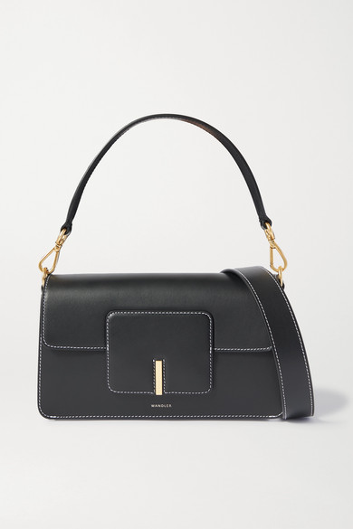 Wandler | Wandler - Georgia Leather Shoulder Bag - Black | Clouty