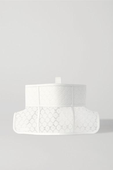 Loewe | Loewe - Obi Lace And Leather Waist Belt - White | Clouty